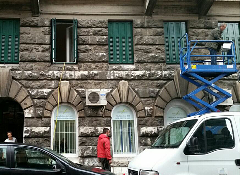 Before-Čišćenje fasade metodom pjeskarenja