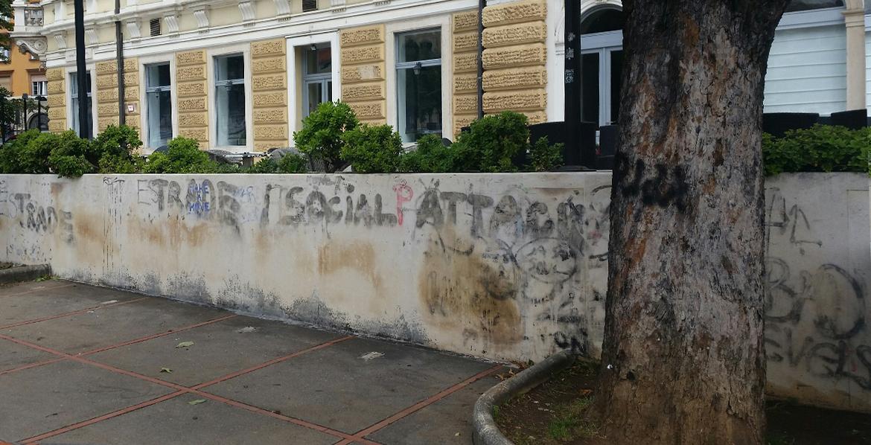 Before-Uklanjanje grafita sa zida